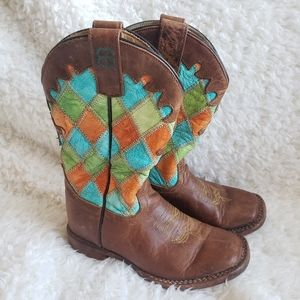 Anderson Bean Boot Company Vibrant Patchwork boots
